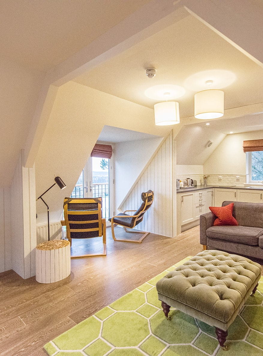 Casa 21 - Holiday Home in Scotland-Kitchen-Lounge-Douneside House