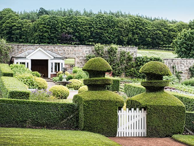 aberdeenshire walled garden douneside house